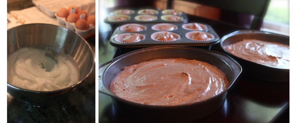 German chocolate cake prep 2