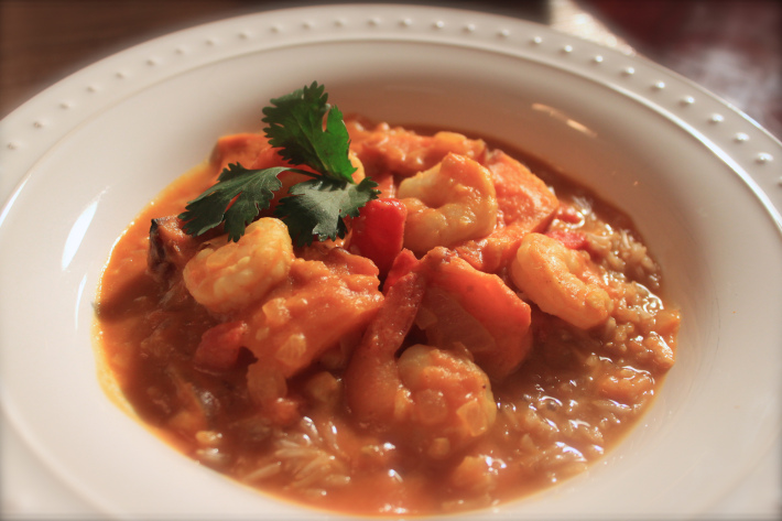 pumpkin shrimp curry - Bistro One Six