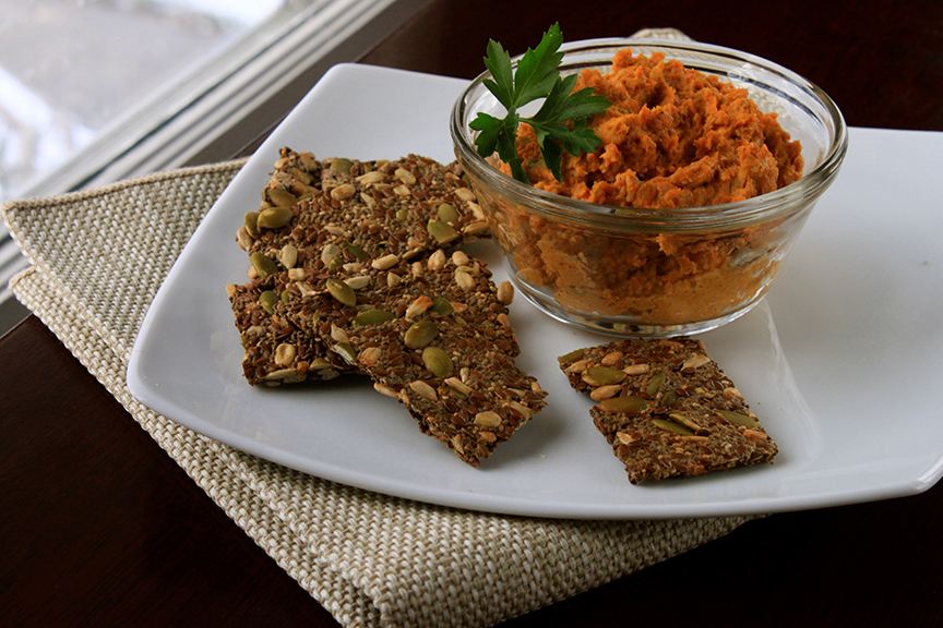 No Bean Spiced Carrot Hummus