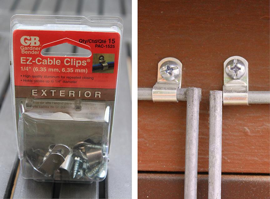 easy garden trellis – clips