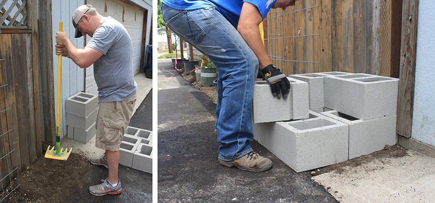 installing-a-rain-barrel-base