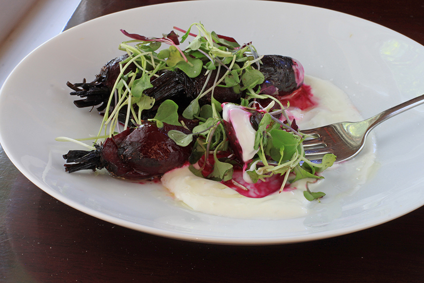 roasted beets with salted yogurt