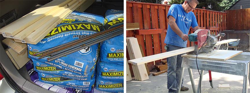 DIY Concrete raised bed posts | Bistro One Six
