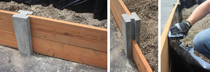 DIY Concrete raised bed posts | Bistro One Six