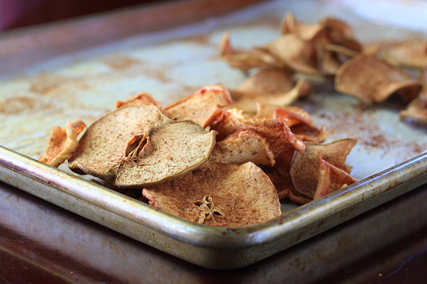 no sugar, pumpkin spiced apple chips