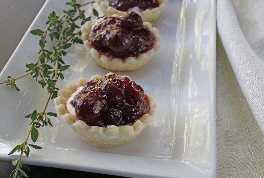 cranberry ricotta tarts