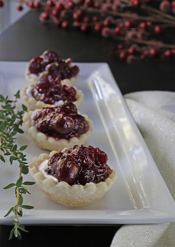 cranberry-ricotta-tarts