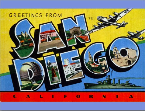 Greeting from San Diego postcard