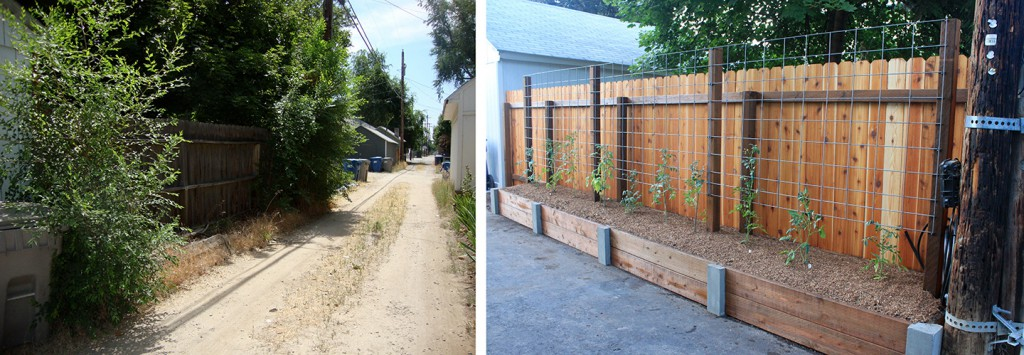 SNOW Block Alley - before & after