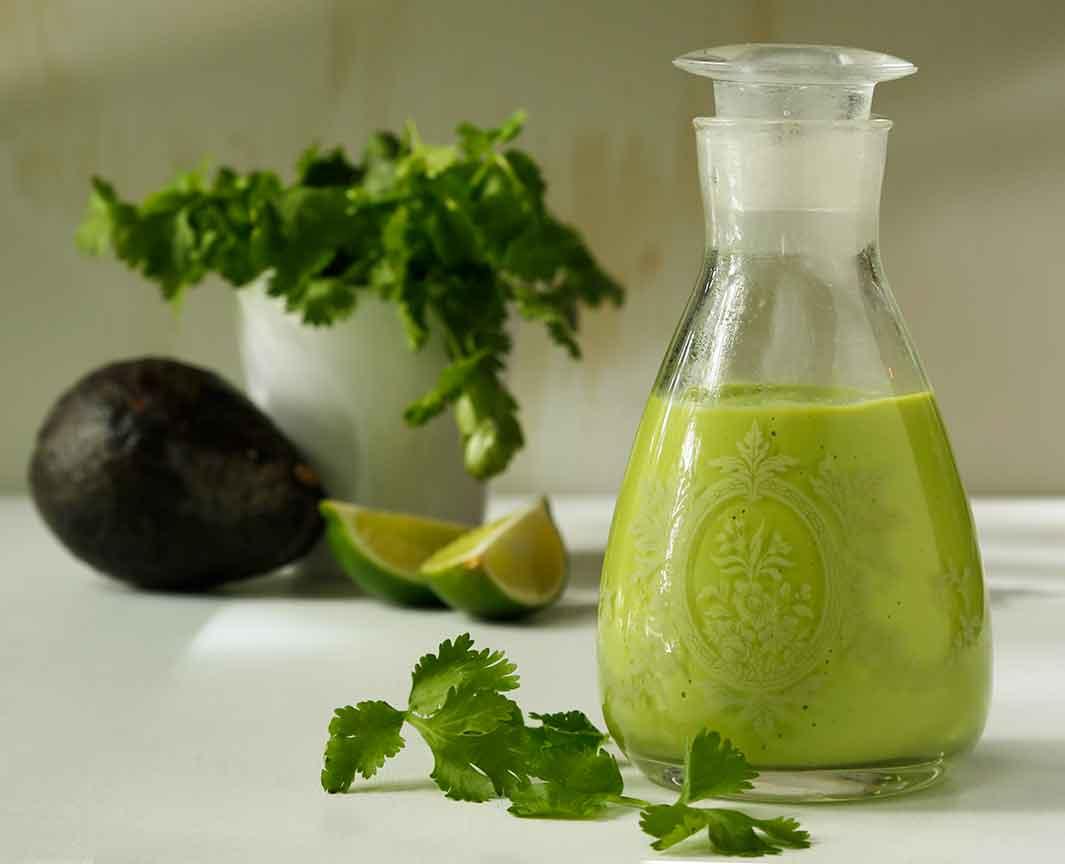creamy cilantro avocado dressing