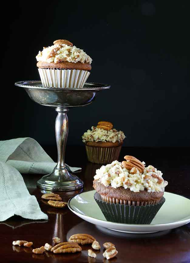 German Chocolate Cupcakes | Bistro OneSix