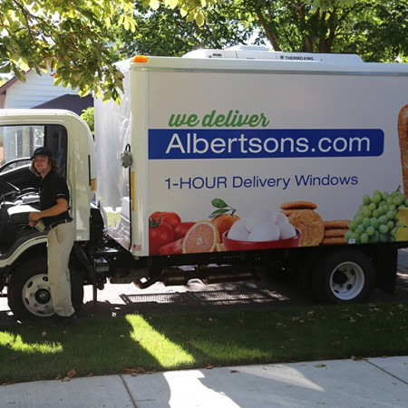 Albertsons Home Grocery Delivery - truck