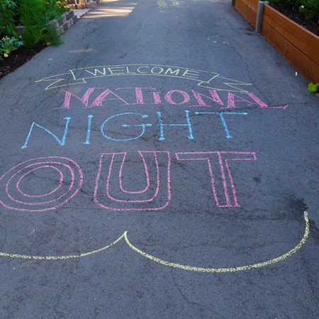 National Night Out - chalk art