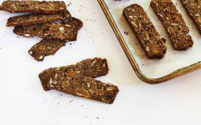 teff rosemary nut crackers