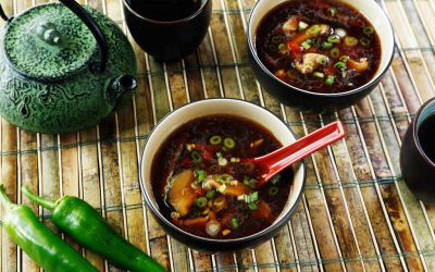 chinese hot-and-sour mushroom soup