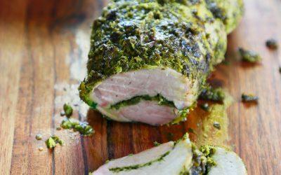 Herb Crusted Pork Tenderloin with Apple & Root Veggies